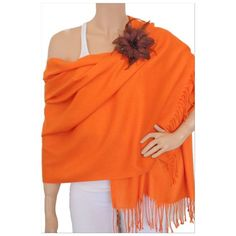 LAST ONE-New Orange  Pashmina like shawl New orange color Pashmina like shawl.  NWT.  Brooch is not included. jcpenney Accessories Scarves & Wraps