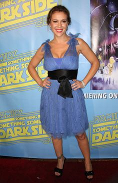 Alyssa Milano Photos Photos: Paris Hilton and Celebs at the Family Guy's DVD Release Party Family Guy Dvd, Alyssa Milano Charmed, Peplum Dress, Strapless Dress, Anna Kendrick, Golden Globes, Celebs, Celebrities, Red Sweaters