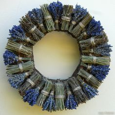 Diy And Crafts - Herbstkranz Lavendel Lavender Crafts, Lavender Wreath, Autumn Wreaths, Christmas Wreaths, Christmas Crafts, Creative Crafts, Diy And Crafts, Kids Crafts, Creative Ideas