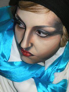 Menchu Benítez escuela de maquillaje, BOOK alumna CRISTINA SANTOFIMIA.