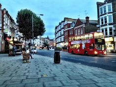West End Lane last night - traffic free for once (via Street House, London Street, London Calling, West End, Building A House, Buildings, Highlights, Street View, Houses