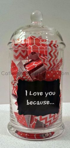 Best DIY Valentines Day Gifts - Love Notes Jar for Valentine's Day - Cute Mason Jar Valentines Day Gifts and Crafts for Him and Her | Boyfriend, Girlfriend, Mom and Dad, Husband or Wife, Friends - Easy DIY Ideas for Valentines Day for Homemade Gift Giving