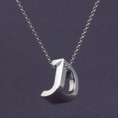 3D-printed monograms combine  two initials in one pendant