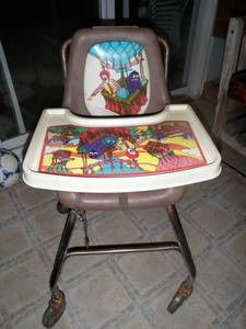 McDonald's High Chairs - I remember cleaning them then putting new cookies, wipe on tray covered with plastic.