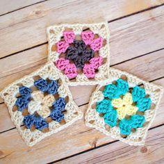 Vintage-Inspired Crochet Granny Square | AllFreeCrochetAfghanPatterns.com