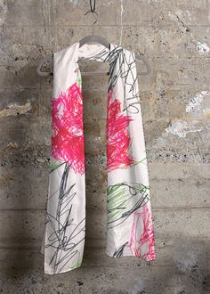 ROSES CASHMERE MODAL SCARF  This scarf will add a touch of luxury and modern elegance to your wardrobe.