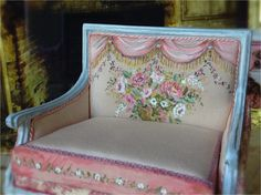 Even more exquisite?  Trompe l' oeil pink floral Sette by MaritzaMiniatures on Etsy