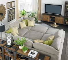 Fancy - Beckham Pit Sectional  -  furniture, couch, sofa, family room, transitional, re-size, moveable components, casual, comfortable.      lj