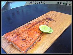 Glazed Salmon on Cedar Plank on EVO Grill. No mess, juicy, healthy dinner in 15 minutes.