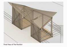 Temporary Architecture, Timber Architecture, Architecture Concept Drawings, Architecture Details, Landscape Architecture, Bus Stop Design, Timber Structure, Parametric Design, Wood Construction