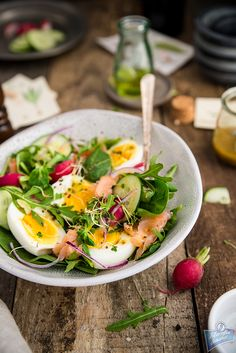 Cooking Time, Cobb Salad, Salmon, Lunch Box, Food And Drink, Fresh, Baking, Dinner, Health