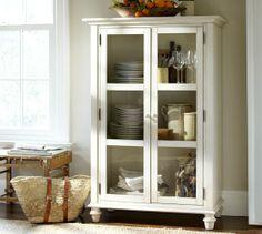 Tivoli Glass Cabinet | Pottery Barn Storage for bathroom?