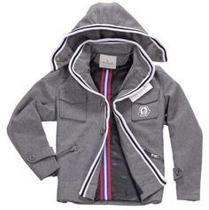 Moncler Men Hat Jacket Grey