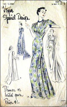 Vintage 1930s-Stunning Evening by FarfallaDesignStudio on Etsy