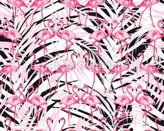 Flamingos In Palm Beach Design Pattern