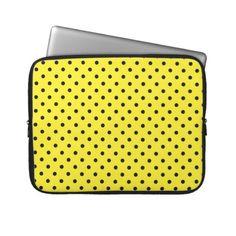 SOLD Sleeve Laptop Hot Yellow Polka Dot Computer Sleeves!  #Zazzle #Sleeve #Laptop #Polkadots http://www.zazzle.com/sleeve_laptop_hot_yellow_polka_dot_laptop_sleeve-124396717538290023