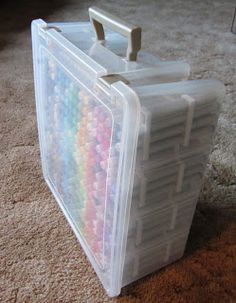 I don't see why this or something similar couldn't be used for adult coloring.   Scrap Happy Ohio: Copic Storage....