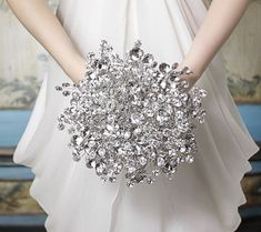 A sparkling bridal bouquet for a dazzling wedding.  #bridalbouquet #weddingbouquet Photography: Ky Kampfeld  See more here: http://www.bridalbouquetsbyky.com/duobrbo.html