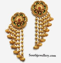 Gold Necklace Set Designs With Price In India Jewellery Earrings Organizer Gold Earrings Designs, Gold Jewellery Design, Gold Jewelry, Jewelery, Gold Designs, Jewellery Earrings, Jewelry Necklaces, India Jewelry, Temple Jewellery