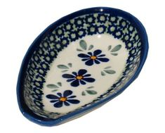 Polish Pottery Spoon Rest 1015DU60 * Details can be found by clicking on the image.