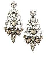 Givenchy Earrings, Hematite-Tone Glass Stone Chandelier Earrings