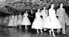 1950's Sock Hop Party decor, streamer's and balloons.