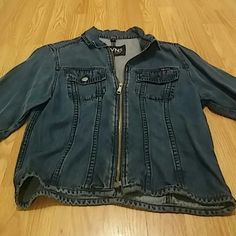 Jevins Jean Jacket Very cute light weight jean zip up jacket great quality in very good shape Jevins Jackets & Coats Jean Jackets