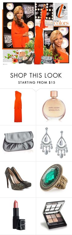 """Red carpet style: Beyonce"" by eidin ❤ liked on Polyvore featuring ASOS, STELLA McCARTNEY, Estée Lauder, Monsoon, 1928, Nicholas Kirkwood, Nelly Accessories, NARS Cosmetics and ELF Cosmetics"