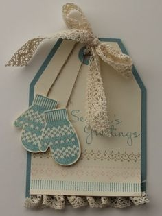 make a mitten stamp set from Stampin' Up! Card by Stamp with Heather