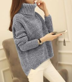 Large Knit Grey Turtleneck. Find yours here: https://ecolo-luca.com/collections/clothing/products/large-knit-grey-turtleneck