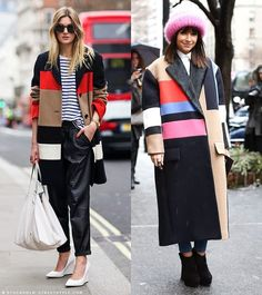 color block coats