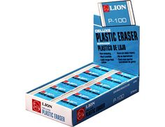 Translucent White Plastic Erasers, 24ea/display-box from Lion Office Products www.lionop.com