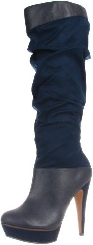 Michael Antonio Women's Barnes Knee-High Boot,Navy