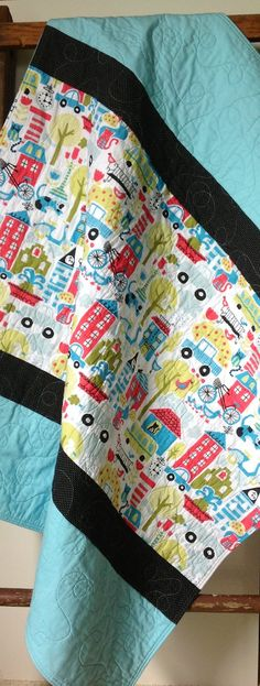 Baby Quilt, Modern, Organic Monaluna, Busy City, Taali, Dogs And Cats, Metro…