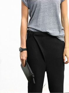 MINIMAL + CLASSIC: Basic #woman #fashion #black #grey