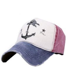 Vintage Anchor Snapback Hat