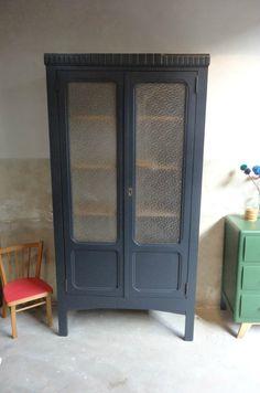 #Armoirevintage #armoire#retro Armoire verres soufllés #Banaborose.com