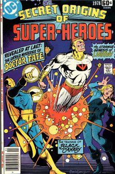 Secret Origins of Super-Heroes Special, 1978, cover by Jose Luis Garcia-Lopez.