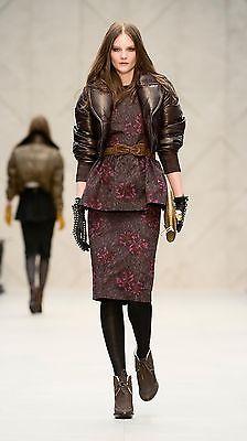 $4,995 Burberry Prorsum 8 10 42 Plongé Leather Down Bomber Jacket Women Lady NEW