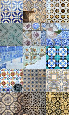via joannlee    5 march 2012    tiles that i documented on my trip to lisbon, portugal  Glazed tiles