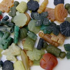 Mixed Gemstone Bead Packet Hand Carved Fetish by AfghanTribalArts, $27.00