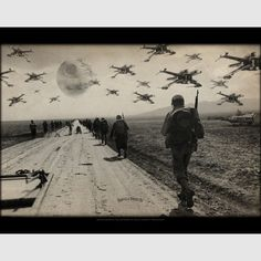 Retaliate Poster - Star Wars and WWII - Thirteenth Floor