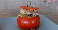 Tomates gratinados rellenos de verduras a la provenzal