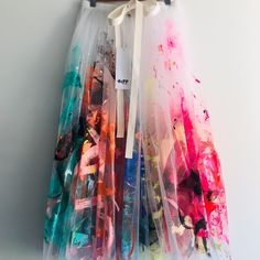 Tiff Manuell Hand Painted Tulle Skirt - Tulle - These exquisite, hand painted and hand made garments have been crafted in our studio in Adelaide wi - Rock Dress, Diy Mode, Painted Clothes, Hand Painted Dress, Fashion Art, Fashion Design, Fashion Painting, Fashion Tips, Diy Clothes