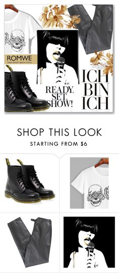 """""""ROMWE CONTEST III"""" by azradzana ❤ liked on Polyvore featuring Dr. Martens and Lafayette 148 New York"""
