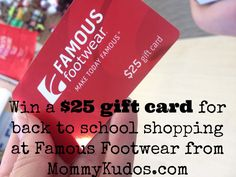 Win a $25 Famous Footwear gift card from MommyKudos.com