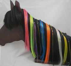 Clip-on Hair Wraps and Extensions for your hair NEON