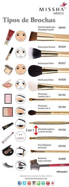 There are a lot of people who nowadays are applying cosmetics using their fingers, in my opinion it looks a lot better if applied using a make-up brush. This article describes the reasons for this and looks at the types of make-up bru Makeup Brush Uses, Makeup 101, Makeup Guide, Love Makeup, Diy Makeup, Makeup Tools, Makeup Inspo, Makeup Tricks, Makeup Ideas