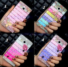 iPod Touch 6, 5 - Mosaic Tile With Butterfly or Makeup Bling Case in Assorted Colors