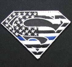 SUPERMAN AMERICAN FLAG POLICE THIN BLUE LINE TACTICAL VELCRO MORALE BADGE PATCH in Collectibles, Militaria, Current Militaria (2001-Now) | eBay